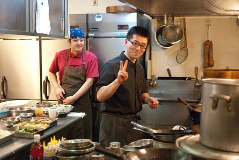 川田さんとキョウヘイさん。らーぷ先生のイケメンシェフアルバム入りです♪