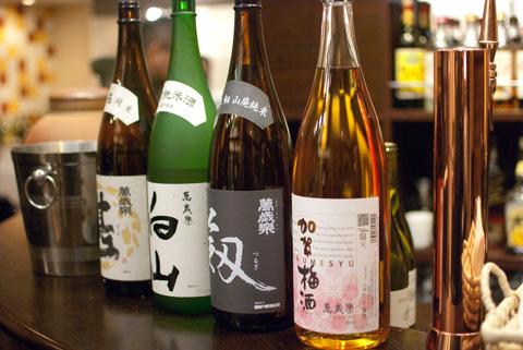 小堀酒造さんの中華に合う日本酒たち。梅酒、大人気でしたね〜。