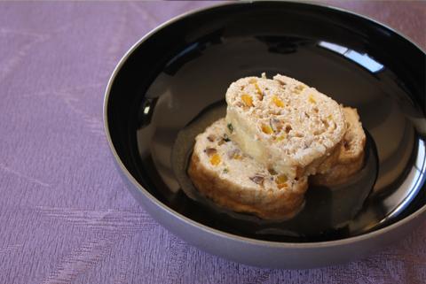 今回のレシピ:はんぺんと季節野菜の信田巻き