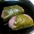 丹波大納言小豆の赤飯の道明寺餅