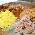 アルファ化米のクミンバター混ぜご飯&ターメリックライス