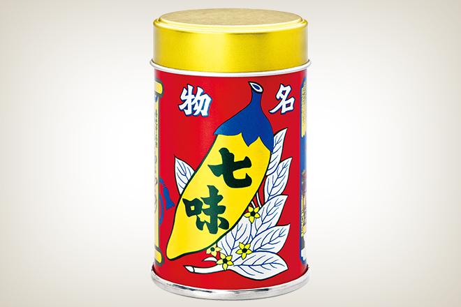 七味唐からし 中辛缶(株式会社八幡屋礒五郎)
